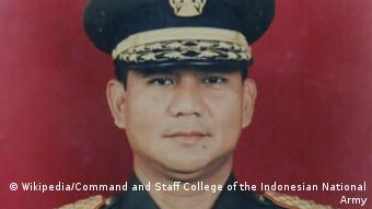 Generalleutnant der indonesischen Nationalarmee - Prabowo Subianto (Wikipedia/Command and Staff College of the Indonesian National Army)