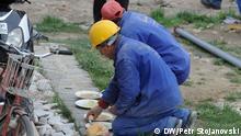 Mazedonien Skopje Arbeiter