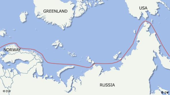 Map of the north east passage