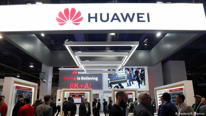 The Huawei booth during the 2019 CES in Las Vegas