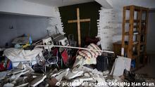 Verwüstete Hauskirche in der chinesischen Stadt Zhengzhou (picture-alliance/AP Photo/Ng Han Guan)