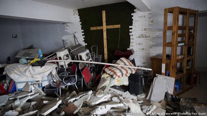 Verwüstete Hauskirche in der chinesischen Stadt Zhengzhou