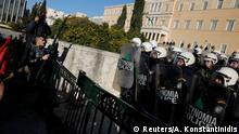 Griechenland, Athen: Lehrer protestieren vor dem Parlamentsgebäude gegen Regierungspläne