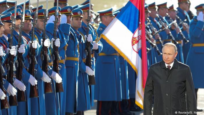 Serbien, Belgrad: Wladimir Putin macht Staatsbesuch