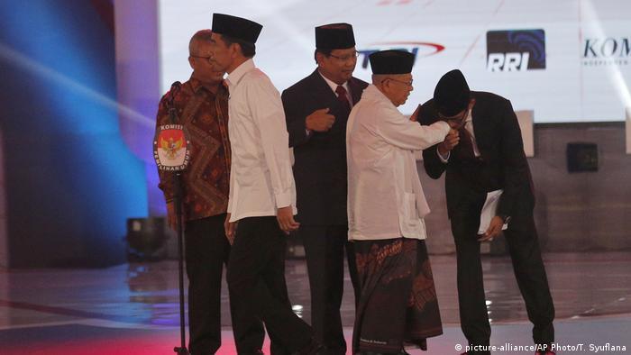 Indonesien Präsidentschaftsdebatte vor den Wahlen