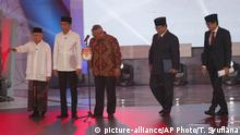 Indonesia presidential debate (picture-alliance/AP Photo/T. Syuflana)