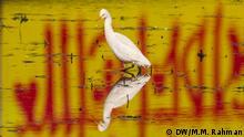 Bangladesch Vogel watet durch Wasser