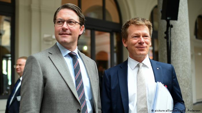 Deutschland Verkehrsminister Scheuer und Vorstandsvorsitzender Deutsche Bahn AG Richard Lutz