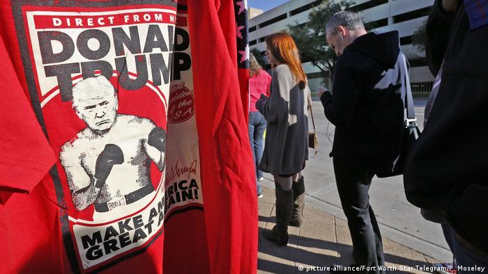 Camiseta retrata Donald Trump como lutador de boxe