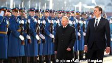 Wladimir Putin in Serbien (picture-alliance/Russian Look)