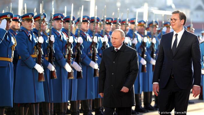 Wladimir Putin in Serbien (picture-alliance/Russian Look)