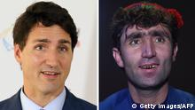 AFGHANISTAN Justin Trudeau Doppelgänger in Talentshow (Getty Images/AFP)