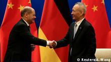 China Olaf Scholz, deutscher Finanzminister | mit Liu He