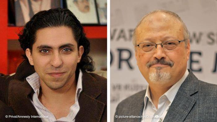 Bildkombi - Raif Badawi und Jamal Khashoggi