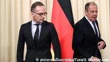 Russland Sergej Lawrow & Heiko Maas in Moskau