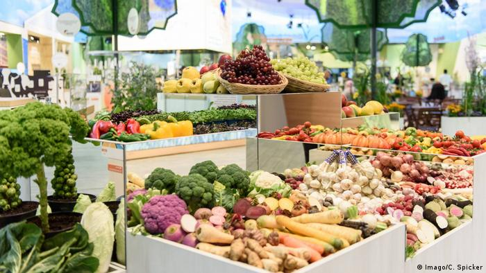 Market of fruits and vegetables
