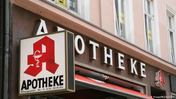 Zeichen für Apotheke in Hamburg