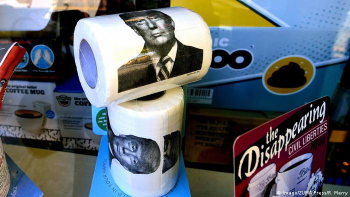 WC-papir s likom Donalda Trumpa u Berkeleyu