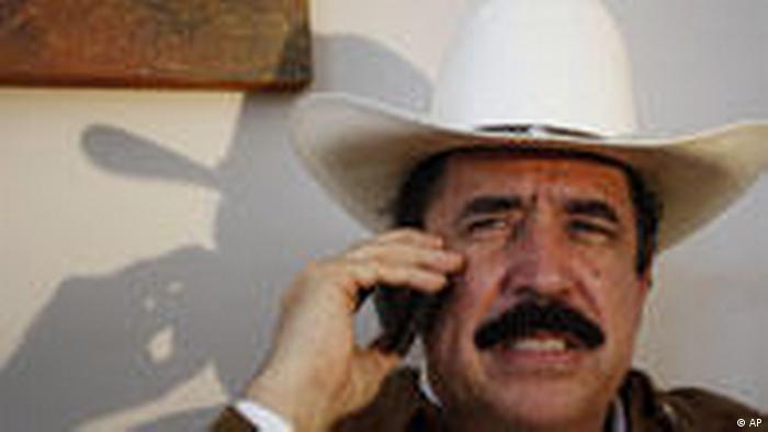 Honduras` Präsident Manuel Zelaya (AP)
