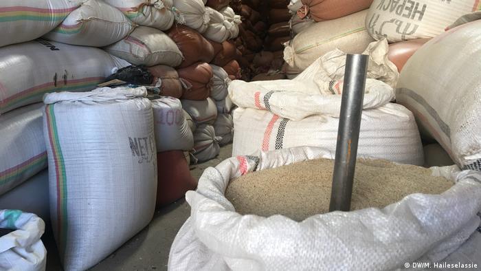 Äthiopien landwirtschaftliche Erzeugnisse auf einem Markt