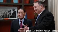 USA Außenminister Mike Pompeo empfängt Kim Yong Chol