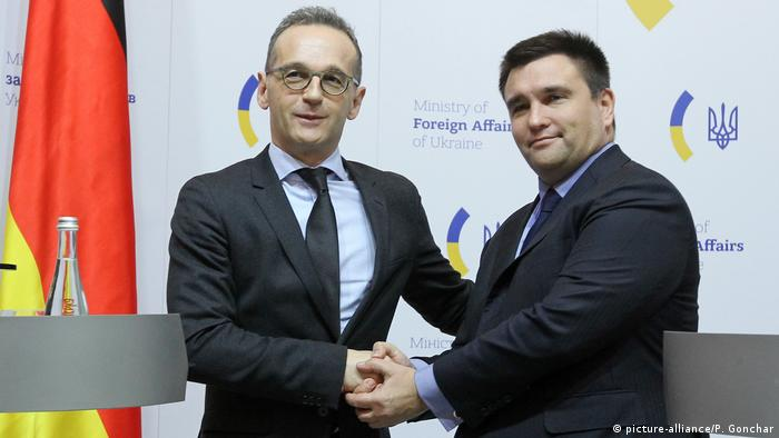 Ukraine, Kiew: Heiko Maas und Pavlo Klimkin