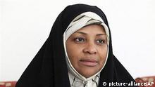 This undated photo provided by Iranian state television's English-language service, Press TV, shows its American-born news anchor Marzieh Hashemi (picture-alliance/AP)