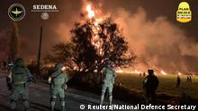 Mexiko, Hidalgo, Gemeinde Tlahuelilpan: Flammen nach einer Gasexplosion