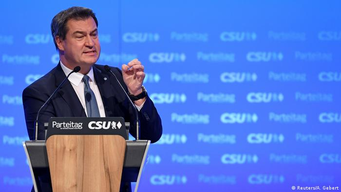 CSU party head Markus Söder speaks at a party conference in Munich, Germany (Reuters/A. Gebert)