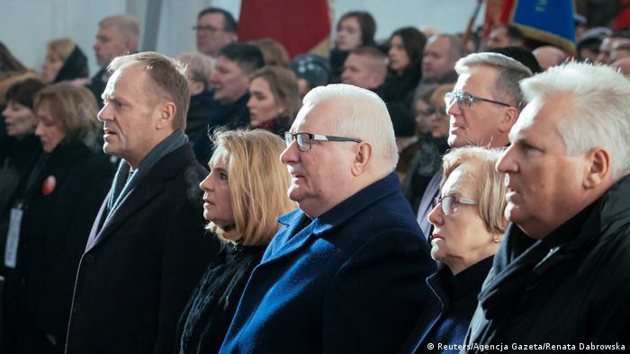 Polen Danzig Beisetzung Pawel Adamowicz, Bürgermeister | Tusk, Walesa, Komorowski & Kwasniewski
