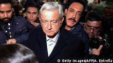 Mexiko Andres Manuel Lopez Obrador, Präsident | in Tlahuelilpan nach Explosion einer Gaspipeline (Getty Images/AFP/A. Estrella)