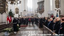 The funeral service for Mayor Pawel Adamowicz