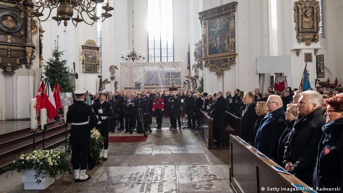 The funeral service for Mayor Pawel Adamowicz