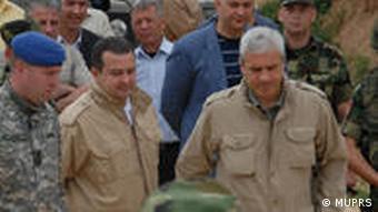 Predsednik Srbije Boris Tadić i ministar policije Ivica Dačić