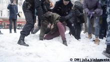 Russland Moskau Gedächtnis-Marsch 10 Jahre Mord an Aktivisten Markelov und Baburova