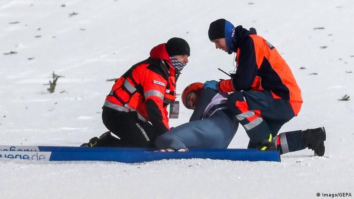 Skispringen Ski nordisch FIS Zakopane David Siegel gestürzt