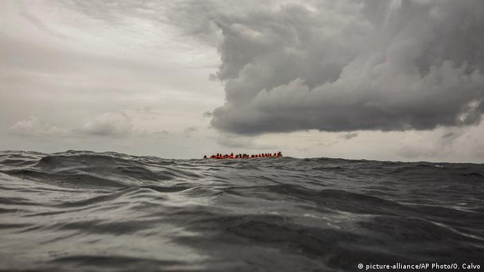 Migrants near Libya (file photo)