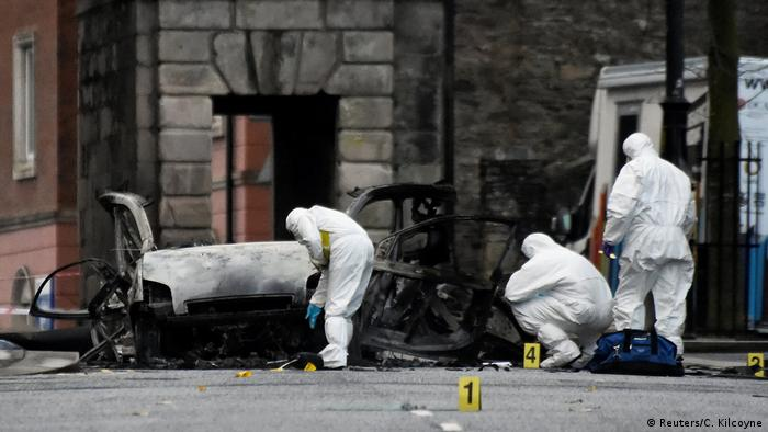 Aftermath of the Derry car bomb