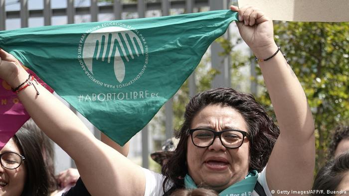 Ecuador Quito | Frauen protestieren für Recht auf Abtreibung