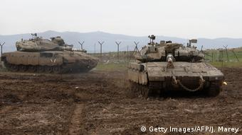 Израильские военные на Голанских высотах, 20 января 2019 г.
