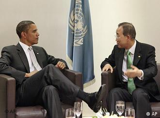 UN USA Barak Obama und Ban Ki Moon in New York