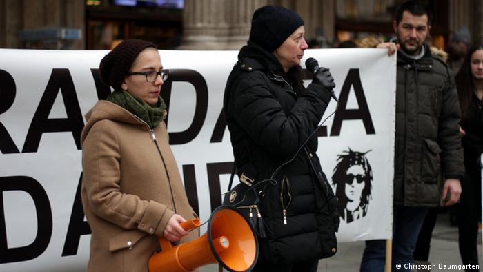 Österreich - Proteste in Wien: Gerechtigkeit für David (Christoph Baumgarten)