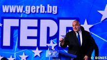 Boyko Borissov beim gestrigen Treffen seiner Partei GERB