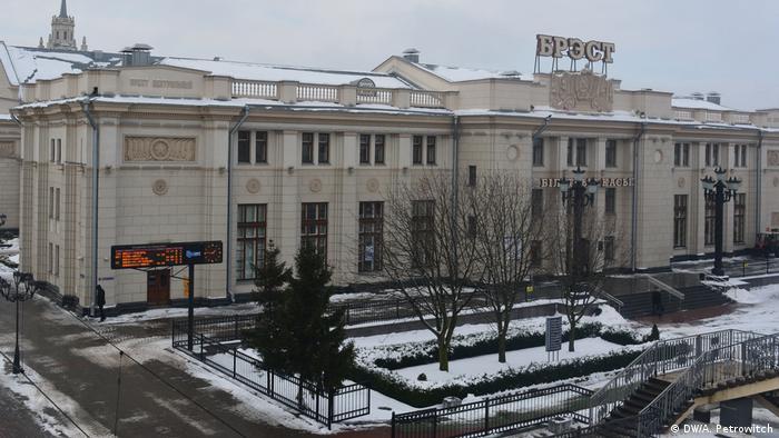 Здание центрального вокзала в Бресте