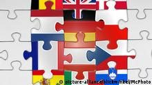 Jigsaw with flags of EU