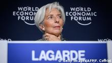 Weltwirtschaftsforum 2019 in Davos | Christine Lagarde, Internationaler Währungsfonds (Getty Images/AFP/F. Coffrini)