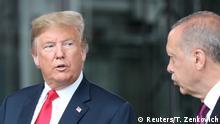 Belgien Trump und Erdogan beim NATO Gipfel (Reuters/T. Zenkovich)