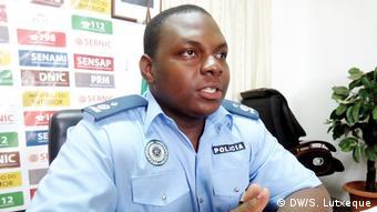 Mosambik Zacarias Nacute, Polizeisprecher in Nampula