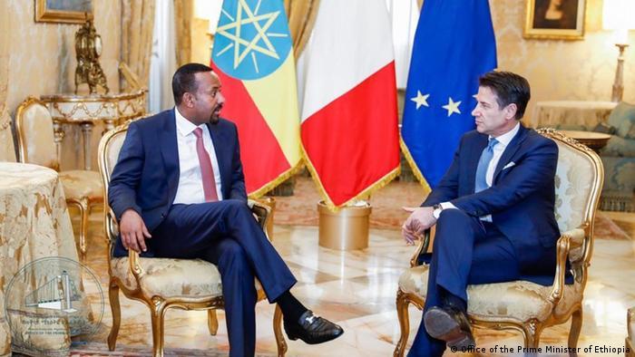 Italien Abiy Ahmed, Premierminister Äthiiopien & Giuseppe Conte in Rom