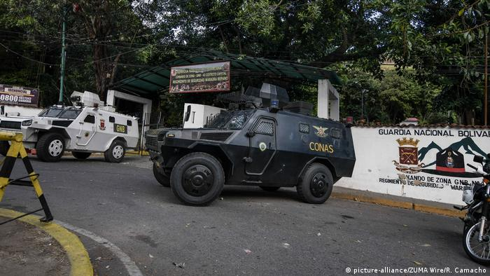 An armored police vehicle in Caracas (picture-alliance/ZUMA Wire/R. Camacho)